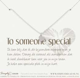 to someone special armband hartje