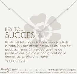Key to succes! Ketting