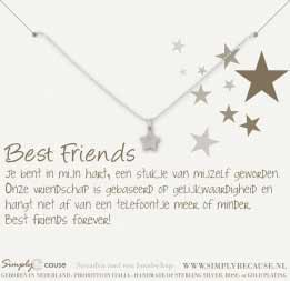 Best friends armband ster