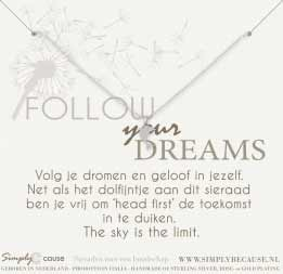 Follow your dreams! Armband