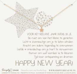 ketting happy new year bedel ster