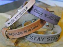 quotes heren, dames kids armbanden leer