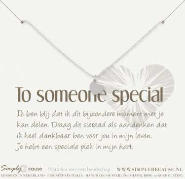 To someone Special! Ketting